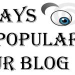 POPULARISE YOUR BLOG
