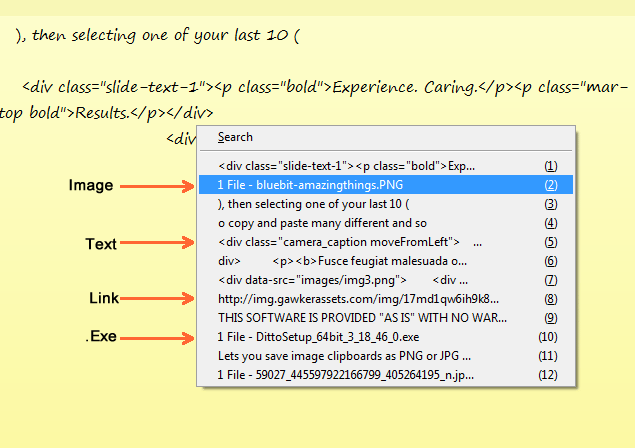 how to copy multiple text
