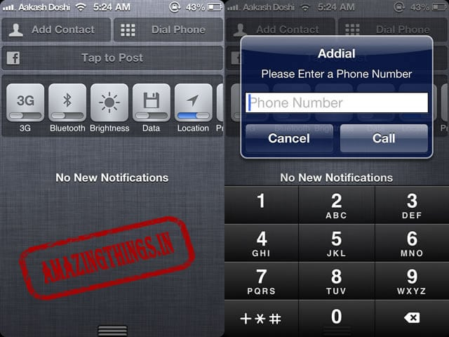 Addial is a free iphone jailbreak tweak